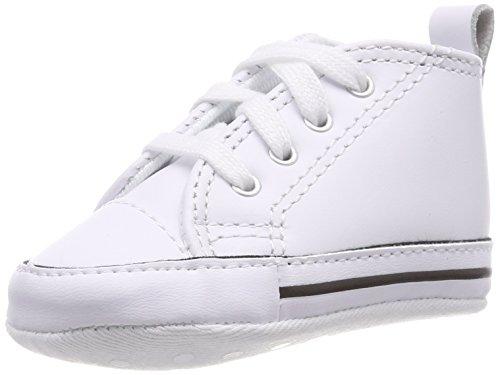 Converse First Star Cuir 022130-12-3, Unisex - Kinder Sneaker, Weiß (Blanc), EU 19