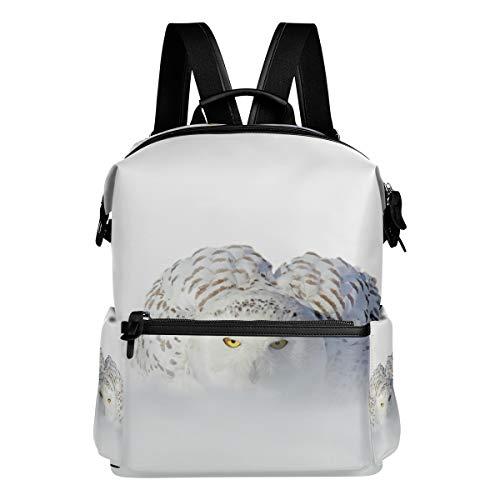 TIZORAX de Chouette Blanc Rare Bird Sac à Dos d'école College Sacs Sac à Dos Bookbags pour Teen garçons Filles