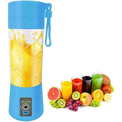 N /A YXY-Tech Draagbare Blender Draadloze Huishoudelijke Persoonlijke Smoothie Blender Juicer Cup Fruit Juice Mixer voor Thuis & Reizen, Oplaadbare USB Juicer Fles