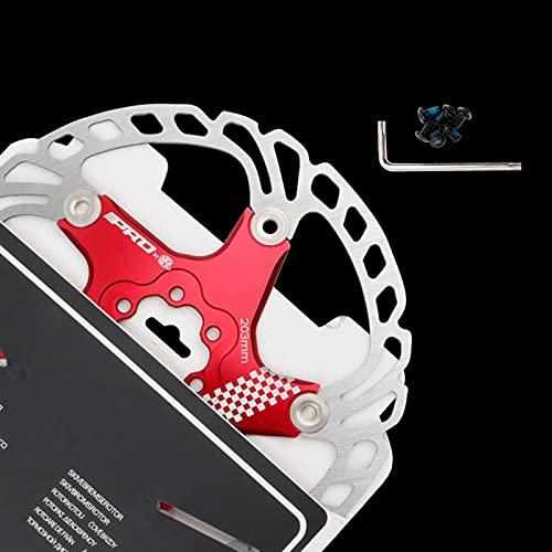 Disco de Freno de Disco de Bicicleta, 140/160/180/203mm Bicicleta de montaña Flotante Disco de Freno Centro de Bloqueo Accesorios de Bicicleta, Unisex, Estándar,Red,203MM