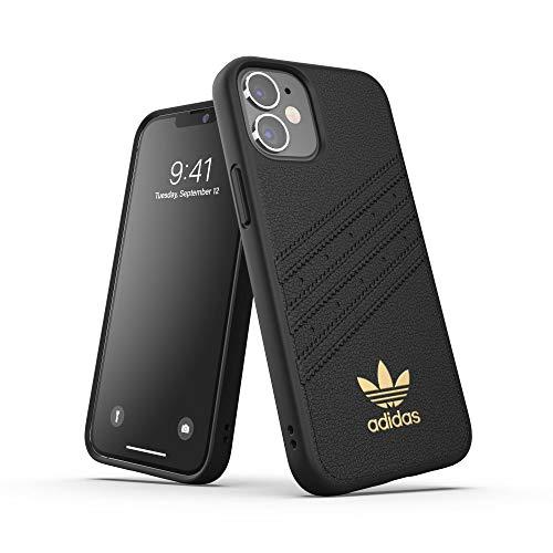 adidas Funda diseñada para iPhone 12 Mini 5.4, Fundas a Prueba de caídas, Bordes elevados, Carcasa Original Moldeada, Color Negro