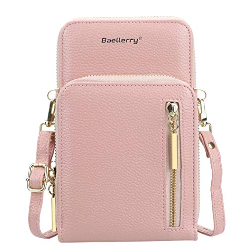 LPOQW Cartera doble para mujer, bolso de hombro, cartera para teléfono móvil,...