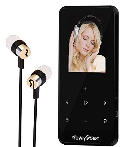 【Newiy Start】mp3プレーヤー Bluetooth sdカード対応 合金製 mp3プレイヤー 超軽量 無損音質 音楽プレーヤー 8GB内蔵容量 最大128GBまで拡張可能 デジタルオーディオプレーヤー 小型 FMラジオ 歩数計 AUXケーブルダイレクト録音対応 [2019最新版】