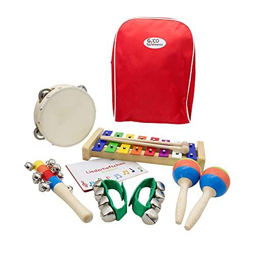 Niños Música Juego de xilófono/carillón, Pandereta y Sonajeros–3878