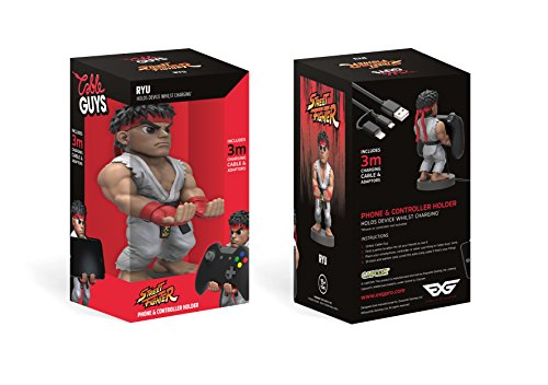 Collectable Street Fighter V Cable Guy Device Holder Works with PlayStation and Xbox controllers and all Smartphones - Ryu - PlayStation 4 [Edizione: Regno Unito]