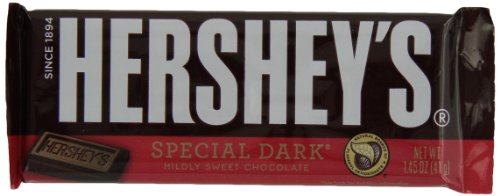 HERSHEY'S SPECIAL DARK Mildly Sweet Chocolate Bar (1.45-Ounce Bars, Pack of 36)