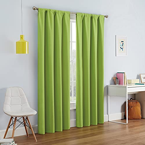 Kendall Modern Blackout Thermal Rod Pocket Window Curtain for Bedroom or Living Room (1 Panel)