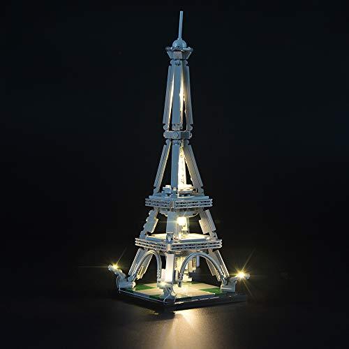 LIGHTAILING Set di Luci per (Architecture Torre Eiffel) Modello da Costruire - Kit Luce LED Compatibile con Lego 21019 (Non Incluso nel Modello)