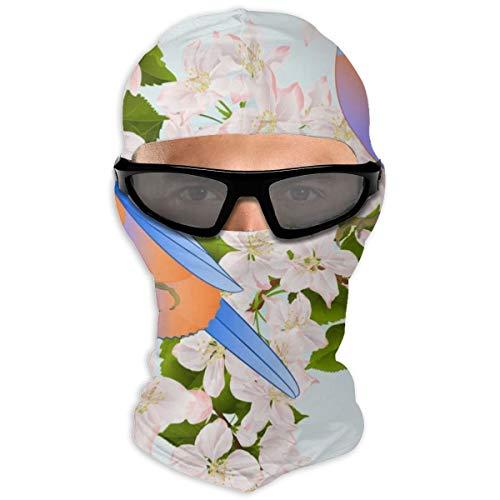 N/A Full Face Naadloze Textuur Kleine Vogels Lijster Blauwe Vogels Hood Zonnebrandcrème Full Face Shields Dual Layer Koud voor mannen en vrouwen