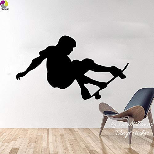 Wandaufkleber 97cmx56cm skateboard wandaufkleber schlafzimmer junge zimmer skater skating sport wandtattoo schnitt vinyl hauptdekoration einfach wandkunst mural-nude_97 cm x 56 cm cooldeerydm