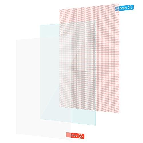 UC-Express Bildschirmschutz-Folie MP Man MPQC1040i Schutzfolie 2X klar Universal Bildschirm Folie