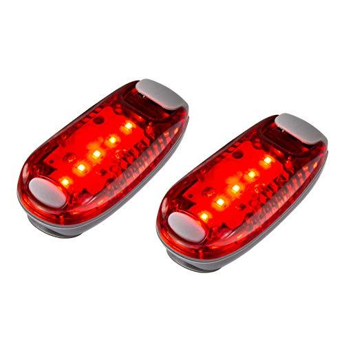 HANGOU LED Sicherheitslicht 2 Stück Sicherheitslicht Stick Lauflicht Clip Blinklicht Hochsichtbare Clip Licht für Laufen, Gehen, Fahrräder, Haustiere
