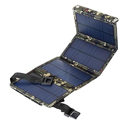sZeao Solarpanel 7W Faltbares Tragbares Wasserdichtes Solarladegerät Mit Mini Wallet Design Solar Ladegerät Für Smartphone, Pad, Kamera, Tablet, Bluetooth-Lautsprecher,B