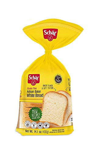 Schar Artisan Baker White Bread Loaf, Gluten-Free, 14.1 Ounce Loaf (Pack of 2)