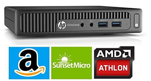 HP EliteDesk 705 G2 Mini Business Desktop PC, AMD A10 PRO-8700B up to 3.2GHz, 8G DDR3, 500G, WiFi, BT 4.0, DVD, Windows 10 64-Multi-Language Support English/Spanish/French(Renewed)