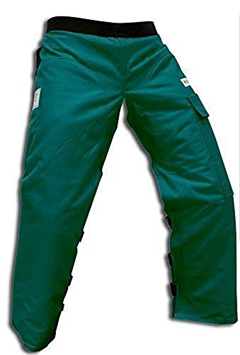 """Forester Chainsaw Safety Chaps with Pocket, Apron Style (Long 40"""", Forest Green)"""