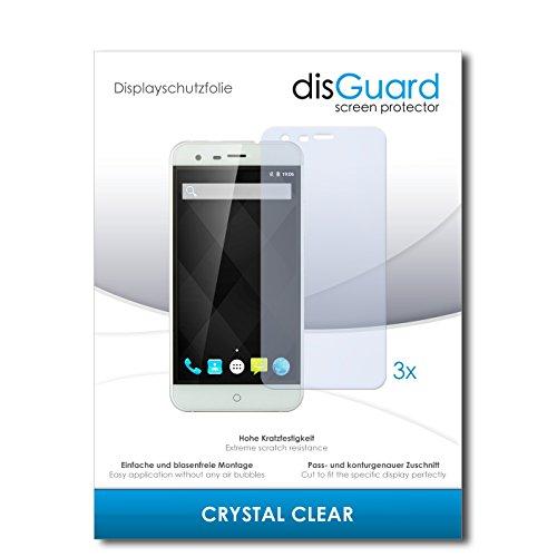 disGuard® Bildschirmschutzfolie [Crystal Clear] kompatibel mit Ulefone Paris Arc HD [3 Stück] Kristallklar, Transparent, Unsichtbar, Extrem Kratzfest, Anti-Fingerabdruck - Panzerglas Folie, Schutzfolie