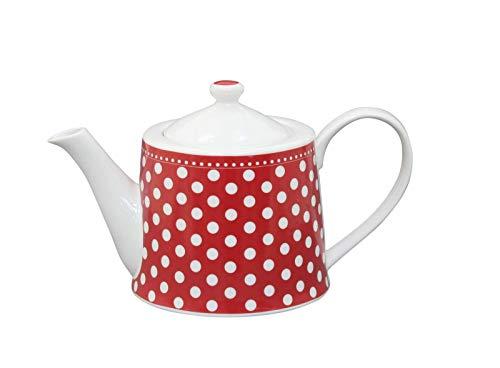 Krasilnikoff Kaffee-/Teekanne dots red