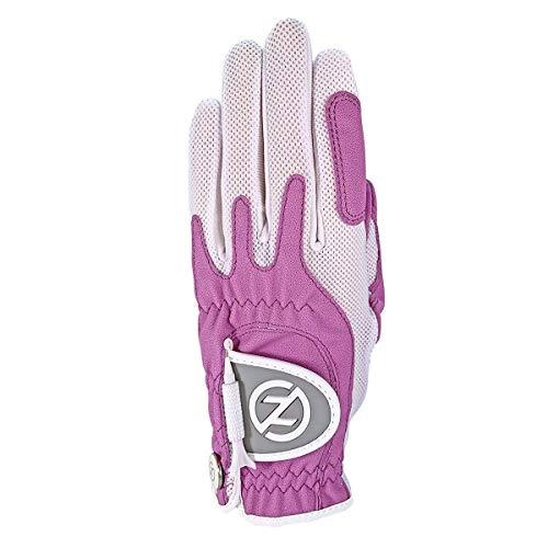 Zero Friction Null Reibung Damen-Compression-fit Synthetik Golf Handschuhe, Universal Fit One Size, Damen, Lavendel, Einheitsgröße