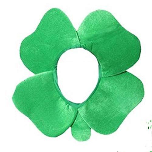 Yize St. Patrick's Day vierblättriges Kleeblatt Hut Grün Kleeblatt Samt Hut St. Patrick's Day Karneval Hut Mütze irische Urlaub Party Hut Fasching Zubehör Gr. Einheitsgröße, Typ 2