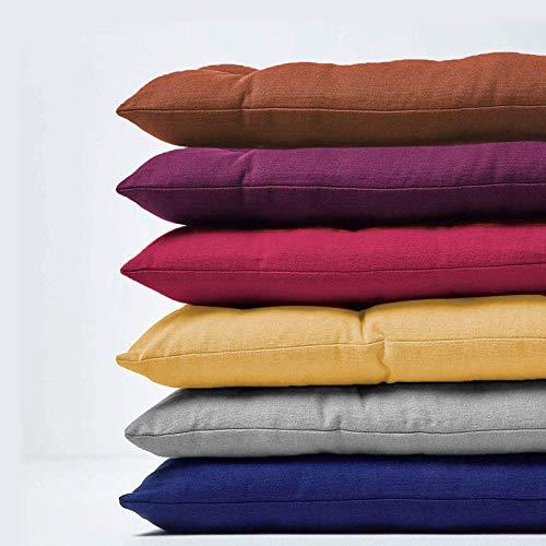 Deulxt EU Bankkissen für 2- und 3-Sitzer, 8 cm dick, rechteckiges Bankkissen für Chaiseschaukel für drinnen und draußen, 110 x 40 cm, grau