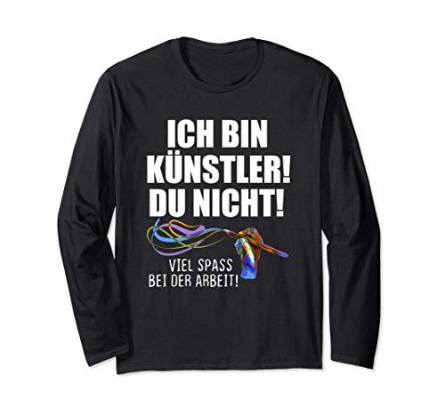 Künstler Pinsel Hand Farben Illustrator Digital Artist Bunt Langarmshirt