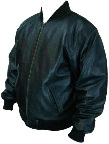 UNICORN Hombres Genuino real cuero chaqueta Estilo clásico Negro #B0 Tamaño 44