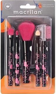 Kit Kp5-35 com 5 Pincéis Para Maquiagem - Coração G Rosa, Macrilan