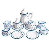 Tvvudwxx 15 Stücke Elegant Puppenhaus Mini Porzellan Teaware 1:12 Puppenhaus Zubehör Miniatur...
