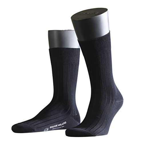 FALKE City Herren Socken Milano 2er Pack, Größe:43/44;Farbe:Dark Navy (6370)