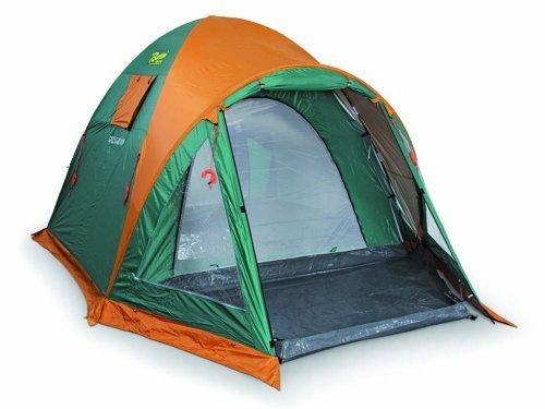 Bertoni Tende Giglio 4 XL VIP Giglio 4 XL Vip Tenda da Campeggio a Catino Unico, Verde/Arancio, Unica