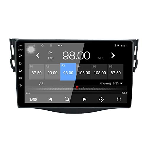 Autoradio LEXXSON Android 10.1 per Toyota RAV 4 2007-2012 | Radio AM FM RDS da 9 pollici con navigazione GPS Wifi Bluetooth Lettore USB Controllo del volante Collegamento dello specchio 2G + 16G