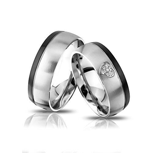 Juwelier Schönschmied -   - Zwei Partnerringe