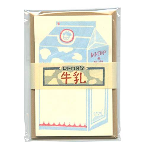 レトロ日記 ミニレターセット 【牛乳】 LT388