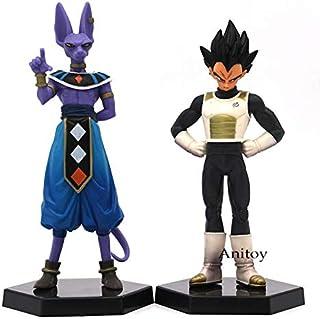 Romantic-Z Anime Dragon Ball Z 2pcs / Set Son Goku Champa & Kakarotto Vegeta y BeerusPVC Figura de acción de colección Modelo de Juguete 16-17cm, B