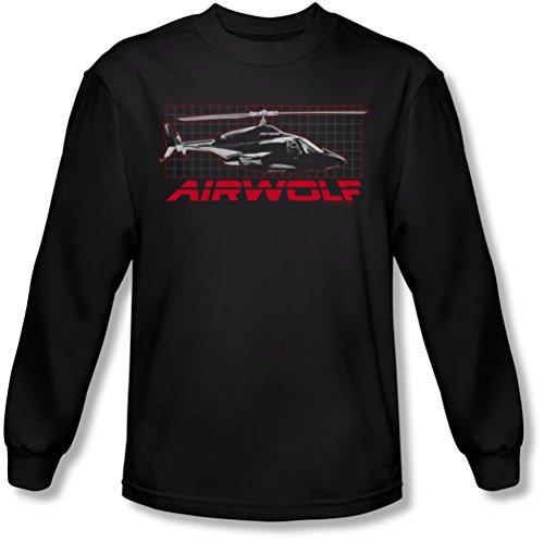 Airwolf - - Grille shirt manches longues de Men In Black, Large, Black