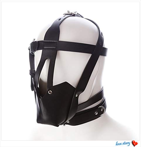 Cheapest Price! Premium Soft Leather Openwork Hood with a Small Ball That Plugs Your Mouth, for Chri...