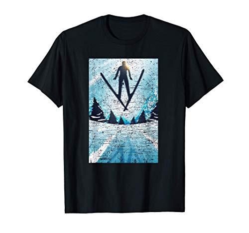 Skispringer Skispringen Ski Skiurlaub Wintersport Geschenk T-Shirt