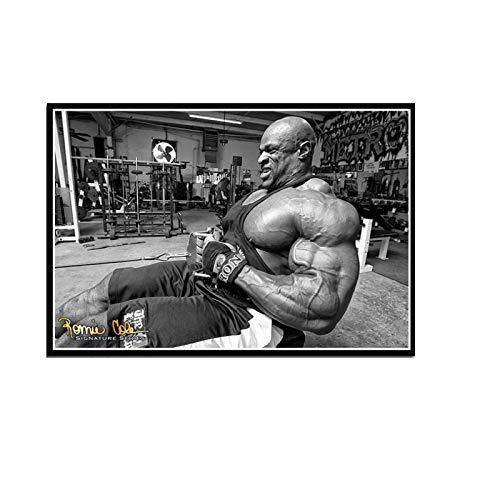 Wxueh Ronnie Coleman Fitness Gym Sport Star Muscle Man Póster Impreso Arte De Pared Imágenes Sala De Estar Decoración Del Hogar -60X80Cmx1Pcs-Sin Marco