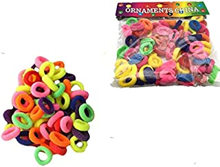80 PCS Colorful girls' Elastic Hair Band Accessories Hair Rubber Band