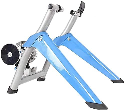 LBWARMB Fluid Bike Trainer Stand Trainer de Bicicleta Plegable Rodillos de Bicicleta Bicicleta Plegable Bicicleta Turbo Turbo Bicicleta Plegable MTB Rodillo de Ciclismo Azul