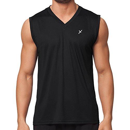 CFLEX Herren Sport Shirt Fitness Muscle-Shirt Sportswear Collection - Schwarz L