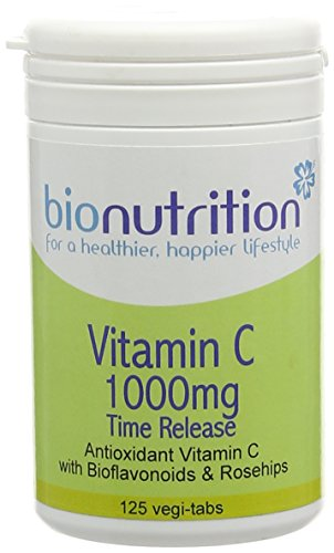 Bio Nutrition Vitamin C 1000mg Time Release - Antioxidant Vitamin C with Bioflavonoids - 125 vegi-tabs