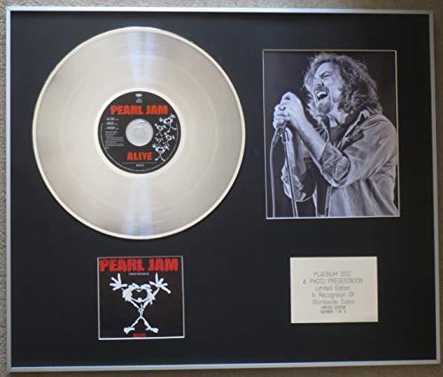 Century Music Awards - Pearl JAM (EDDIE VEDDER) - Disco platino CD individual + foto - ALIVE