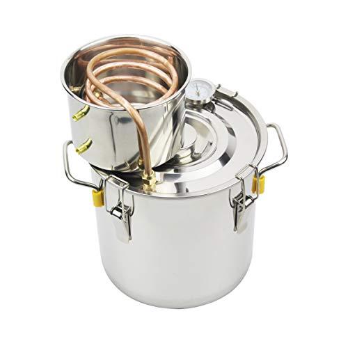 BACOENG 3Gal/12L Moonshine Still Spirits Water Alcohol Distiller Copper Tube Home Brew Wine Making Kit Stainless Steel Boiler