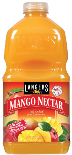 Langers Juice, Mango Nectar, 64 Ounce (Pack of 8)
