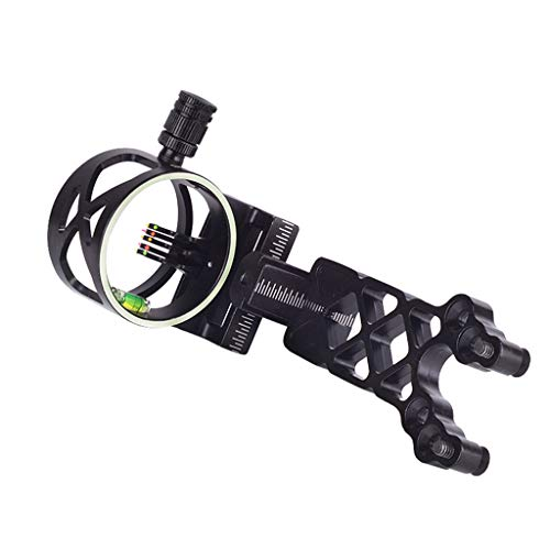Sharplace Bow Sight Aluminum Alloy Micro-Adjust Hunting Archery Compound Bow Aim Collimation