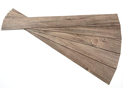 ROSEROSA Peel and Stick Engineered PVC Plank Wood Pattern Durable Vinyl Flooring (ECK-804 : 5 Planks)