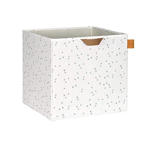 LÄSSIG Kinder Aufbewahrungskorb Aufbewahrungsbox Kinderzimmer Spielzeugkorb Organizer Wäschekorb/Toy Cube Allover Speckles