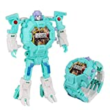 LHKJ Reloj Transformers,Reloj Digital para Niños 2 en 1 Reloj de Pulsera Eléctrico, Pulsera de Silicona, Reloj Desmontable de Transformers